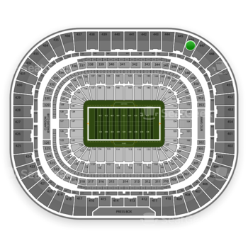 St. Louis Rams at Edward Jones Dome Section 446 View