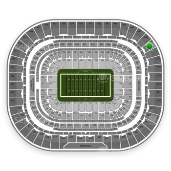 St. Louis Rams at Edward Jones Dome Section 449 View