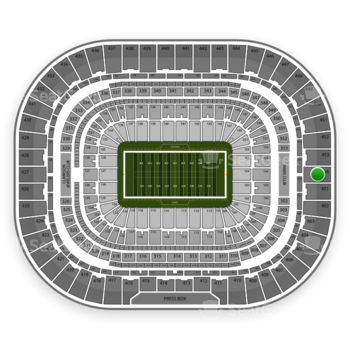 St. Louis Rams at Edward Jones Dome Section 454 View