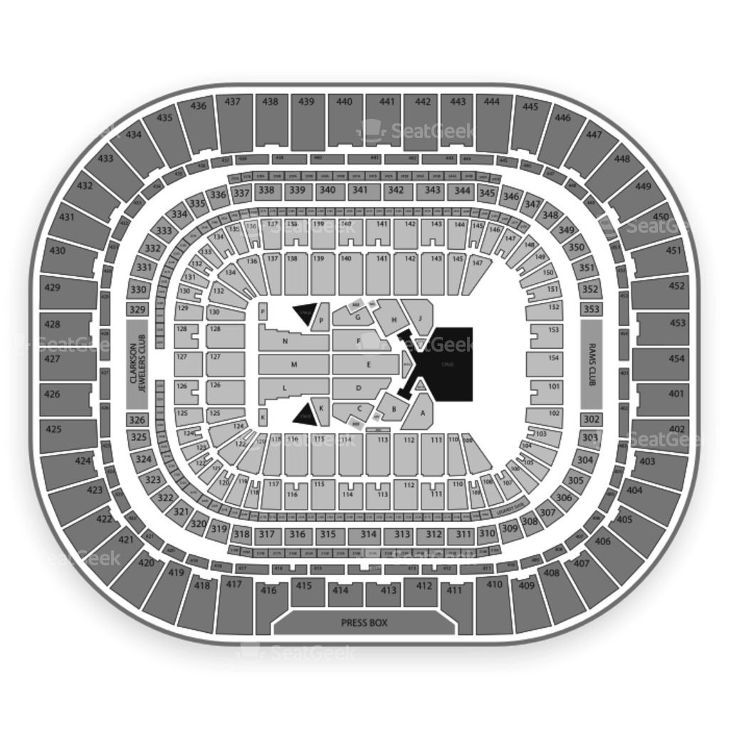 The Dome At Americas Center Seating Chart Map Seatgeek