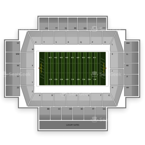 Alumni Stadium seating chart Boston College Eagles Football