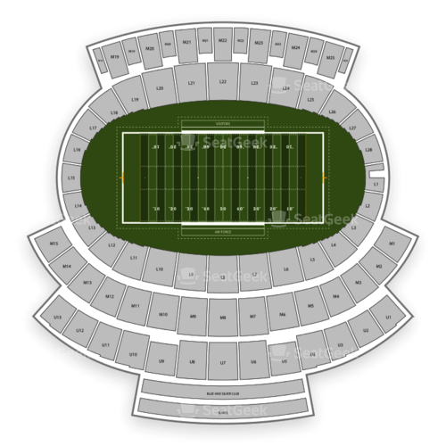Air Force Falcons Football Seating Chart