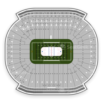 Detroit Red Wings at Michigan Stadium Section 119 View