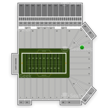 Kansas State Wildcats Football at Bill Snyder Family Stadium Section 17 View
