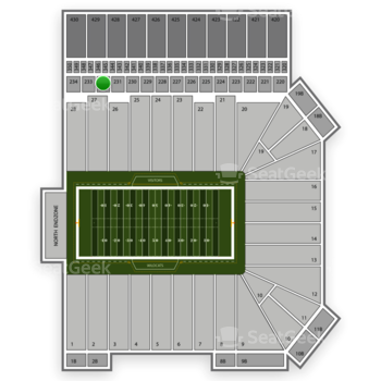 Kansas State Wildcats Football at Bill Snyder Family Stadium Section 232 View
