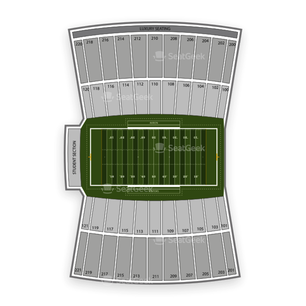 Akron Zips Football Seating Chart