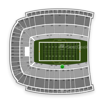 Oklahoma State Cowboys Football at Boone Pickens Stadium Section 104 View