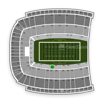 Oklahoma State Cowboys Football at Boone Pickens Stadium Section 106 View