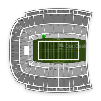 Oklahoma State Cowboys Football at Boone Pickens Stadium Section 116 View