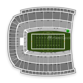 Oklahoma State Cowboys Football at Boone Pickens Stadium Section 120 View