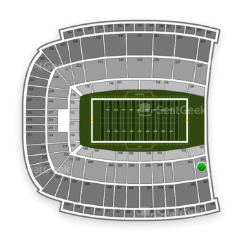 Oklahoma State Cowboys Football at Boone Pickens Stadium Section 201 View