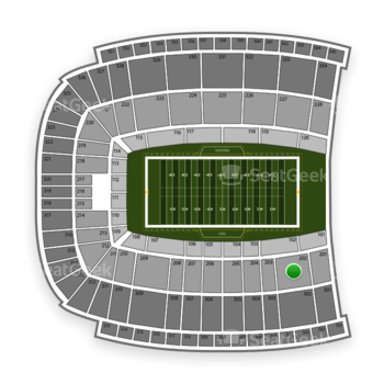 Oklahoma State Cowboys Football at Boone Pickens Stadium Section 202 View