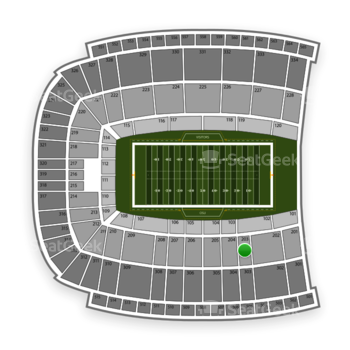 Oklahoma State Cowboys Football at Boone Pickens Stadium Section 203 View