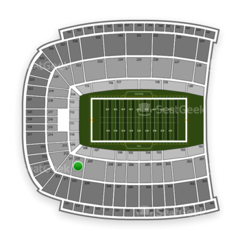 Oklahoma State Cowboys Football at Boone Pickens Stadium Section 210 View
