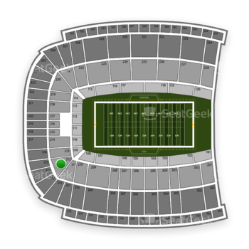 Oklahoma State Cowboys Football at Boone Pickens Stadium Section 212 View