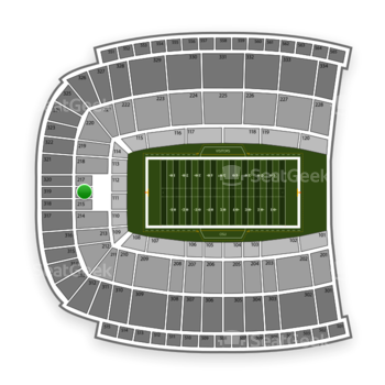 Oklahoma State Cowboys Football at Boone Pickens Stadium Section 216 View