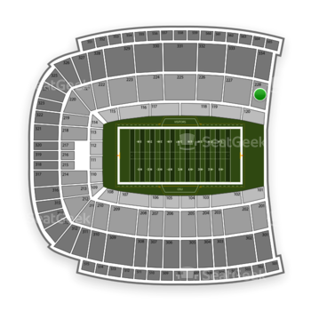 Oklahoma State Cowboys Football at Boone Pickens Stadium Section 228 View