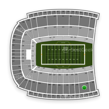 Oklahoma State Cowboys Football at Boone Pickens Stadium Section 302 View