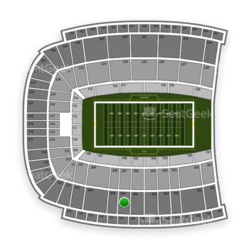 Oklahoma State Cowboys Football at Boone Pickens Stadium Section 307 View