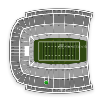 Oklahoma State Cowboys Football at Boone Pickens Stadium Section 308 View