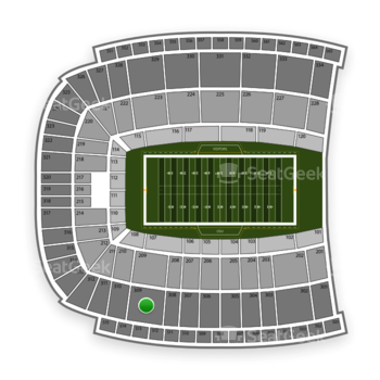 Oklahoma State Cowboys Football at Boone Pickens Stadium Section 309 View