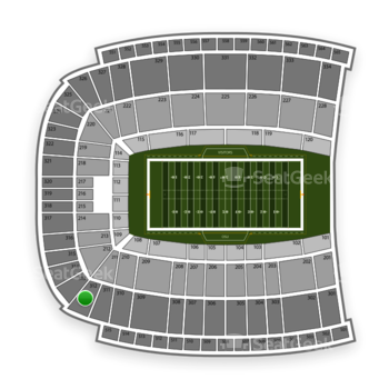 Oklahoma State Cowboys Football at Boone Pickens Stadium Section 312 View