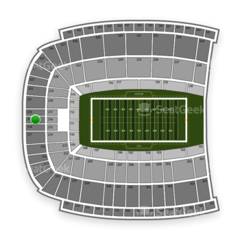 Oklahoma State Cowboys Football at Boone Pickens Stadium Section 319 View
