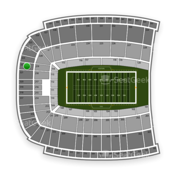 Oklahoma State Cowboys Football at Boone Pickens Stadium Section 322 View