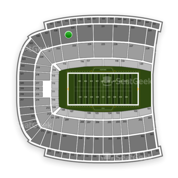 Oklahoma State Cowboys Football at Boone Pickens Stadium Section 329 View