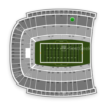 Oklahoma State Cowboys Football at Boone Pickens Stadium Section 332 View