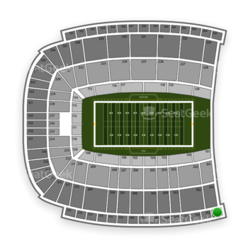 Oklahoma State Cowboys Football at Boone Pickens Stadium Section 501 View
