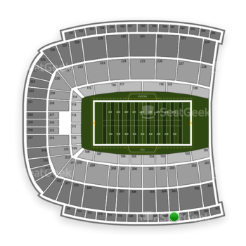 Oklahoma State Cowboys Football at Boone Pickens Stadium Section 505 View