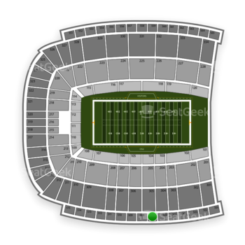 Oklahoma State Cowboys Football at Boone Pickens Stadium Section 507 View