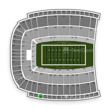 Oklahoma State Cowboys Football at Boone Pickens Stadium Section 513 View