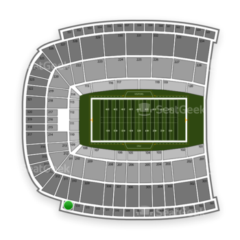 Oklahoma State Cowboys Football at Boone Pickens Stadium Section 515 View