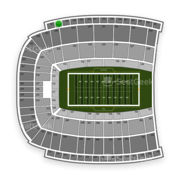 Oklahoma State Cowboys Football at Boone Pickens Stadium Section 552 View