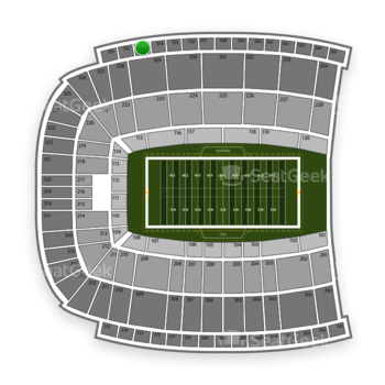 Oklahoma State Cowboys Football at Boone Pickens Stadium Section 553 View