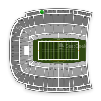 Oklahoma State Cowboys Football at Boone Pickens Stadium Section 554 View