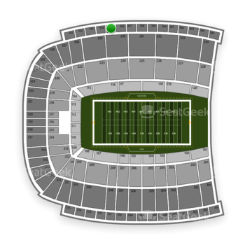 Oklahoma State Cowboys Football at Boone Pickens Stadium Section 555 View
