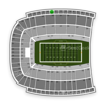 Oklahoma State Cowboys Football at Boone Pickens Stadium Section 556 View