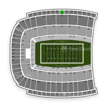 Oklahoma State Cowboys Football at Boone Pickens Stadium Section 558 View