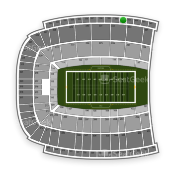 Oklahoma State Cowboys Football at Boone Pickens Stadium Section 561 View