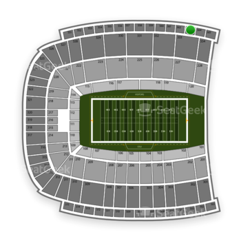 Oklahoma State Cowboys Football at Boone Pickens Stadium Section 563 View