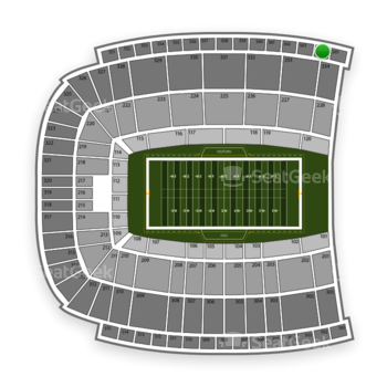 Oklahoma State Cowboys Football at Boone Pickens Stadium Section 564 View