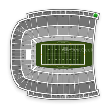 Oklahoma State Cowboys Football at Boone Pickens Stadium Section 565 View