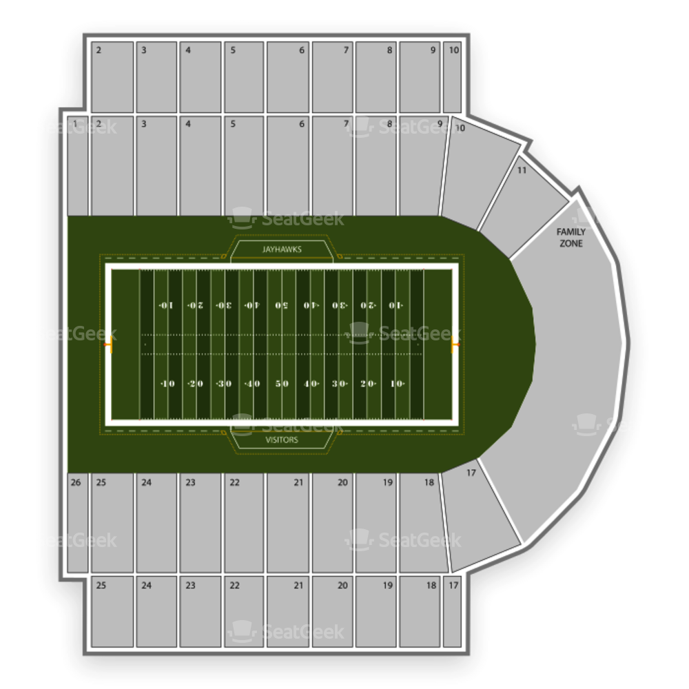 Kansas Jayhawks Football Seating Chart
