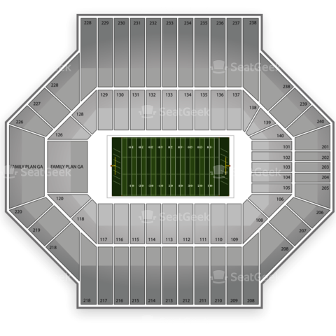 Stanford Stadium seating chart Stanford Cardinal Football