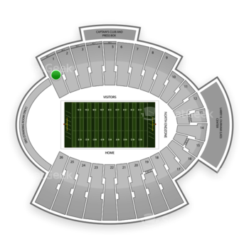 UTEP Miners Football at Sun Bowl Stadium Section 1 View