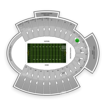UTEP Miners Football at Sun Bowl Stadium Section 11 View