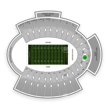 UTEP Miners Football at Sun Bowl Stadium Section 14 View